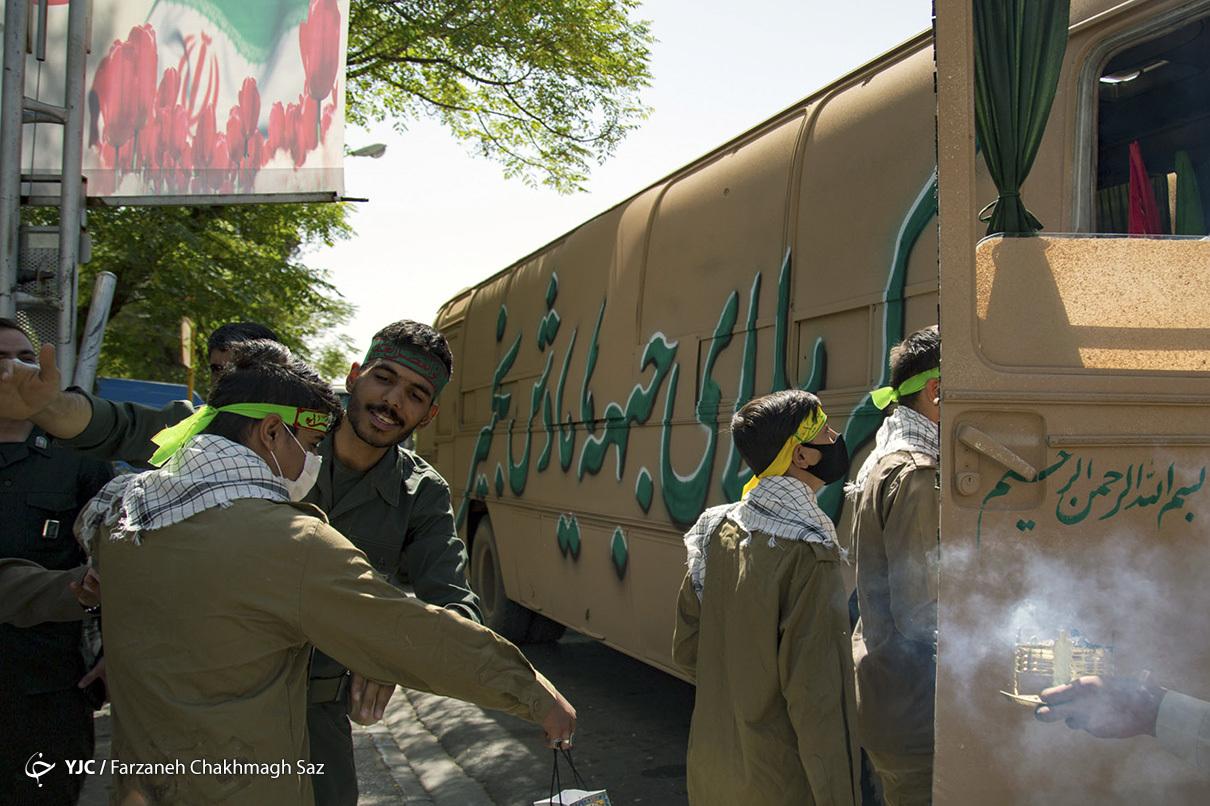 بازآفرینی اعزام رزمندگان شیراز به جبههها
