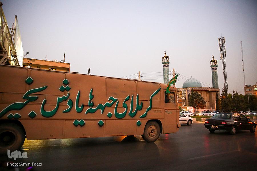کاروان راهیان دفاع مقدس در شیراز