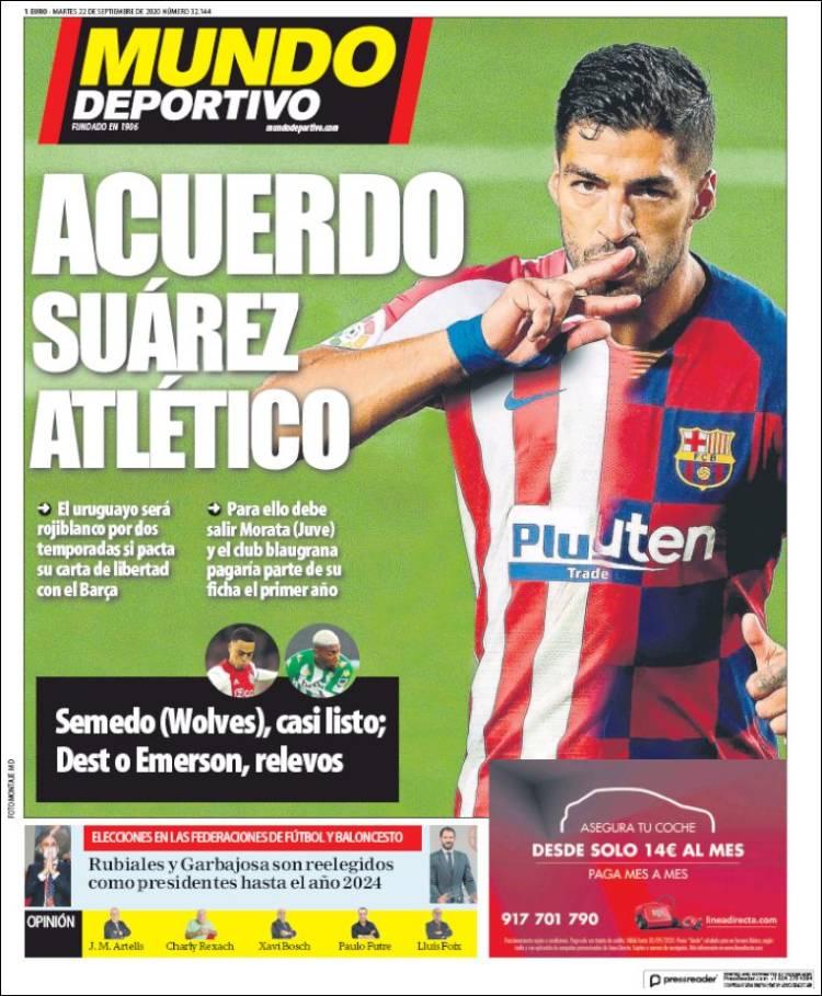 صفحه اول روزنامه موندو دیپورتیوو