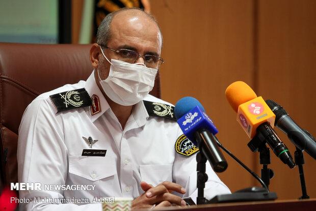 برخورد پلیس تهران با وانت بارهای دوره گرد و دستفروش