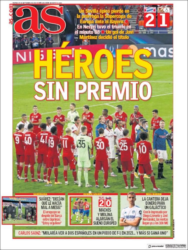 صفحه اول روزنامه آس
