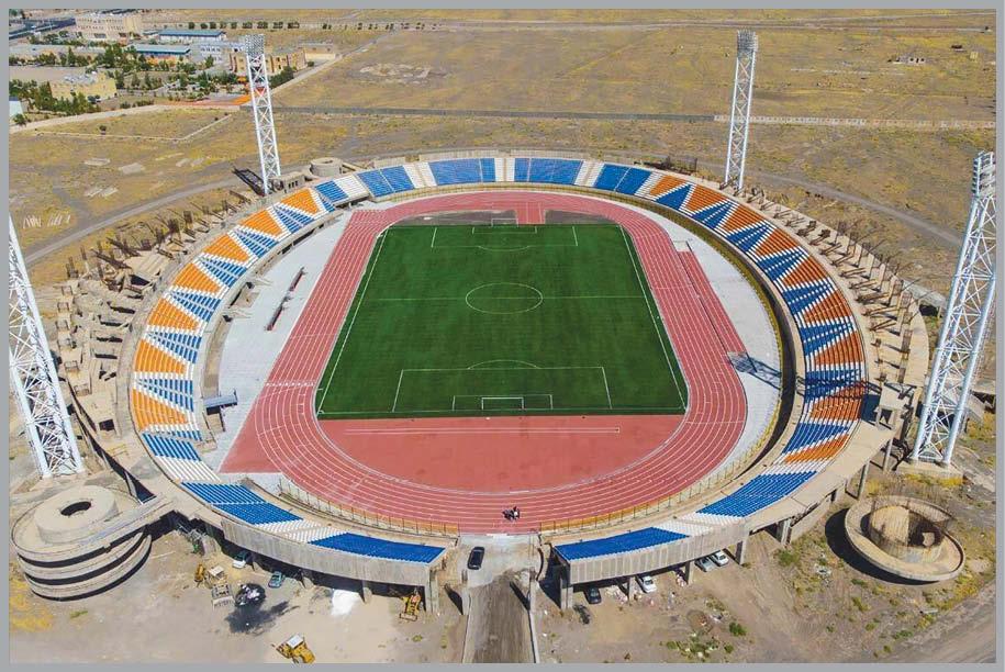 افتتاح استادیوم ناتمام!