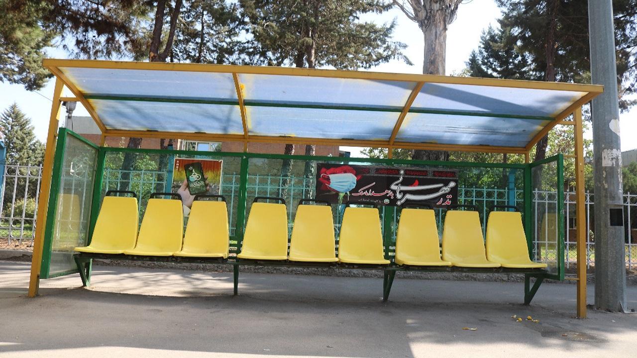 تعویض صندلی ایستگاههای اتوبوس قزوین