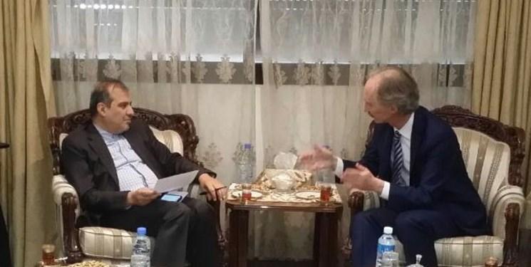 رایزنی تلفنی نماینده ویژه دبیرکل سازمان ملل در امور سوریه با دستیار ظریف