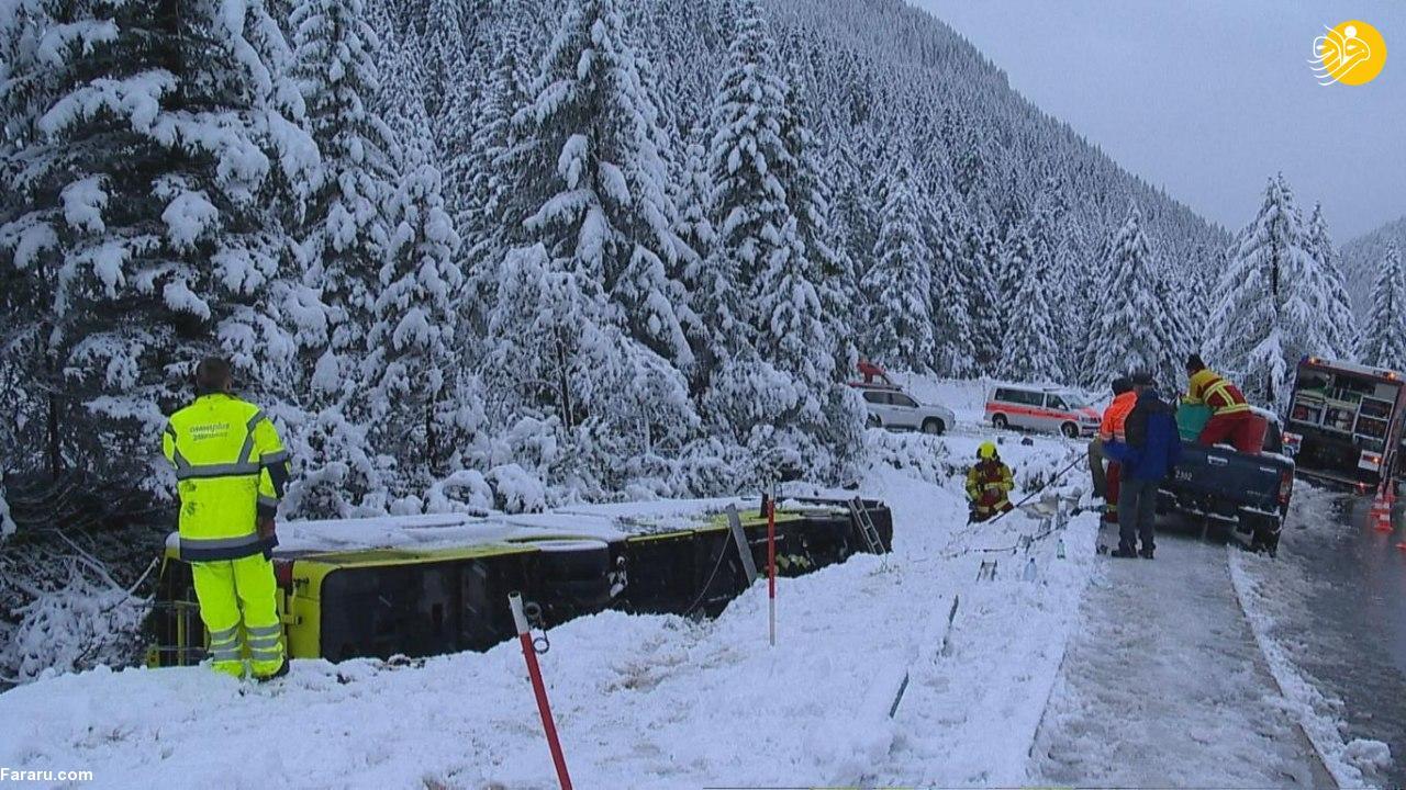 بارش برف غافلگیرکننده در سوئیس