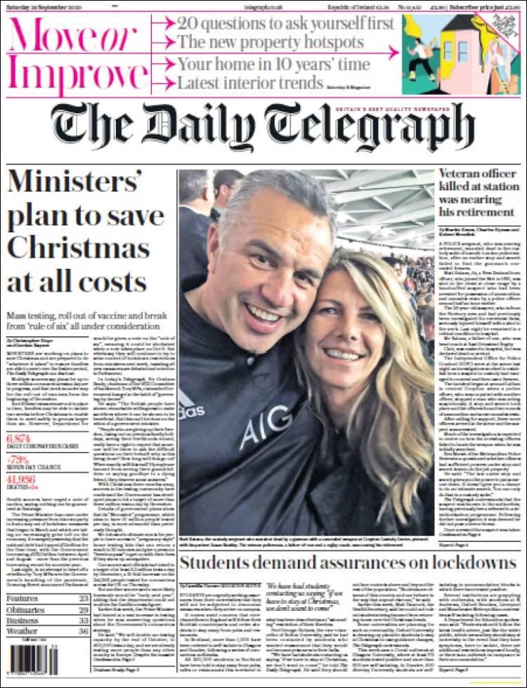 صفحه اول روزنامه دیلی تلگراف/ طرح وزیران برای نجات کریسمس به هر قیمتی