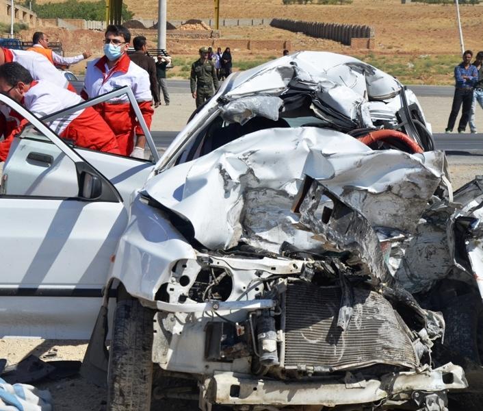 تصادف خونین در محور چادگان- اصفهان