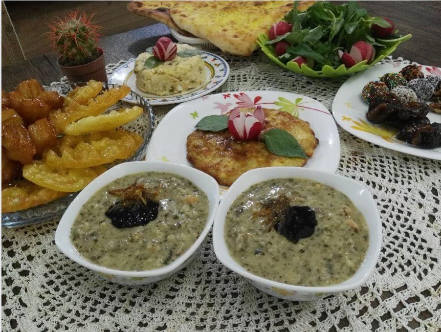 غذاي سنتي و محلي آش کشک لاهيجان