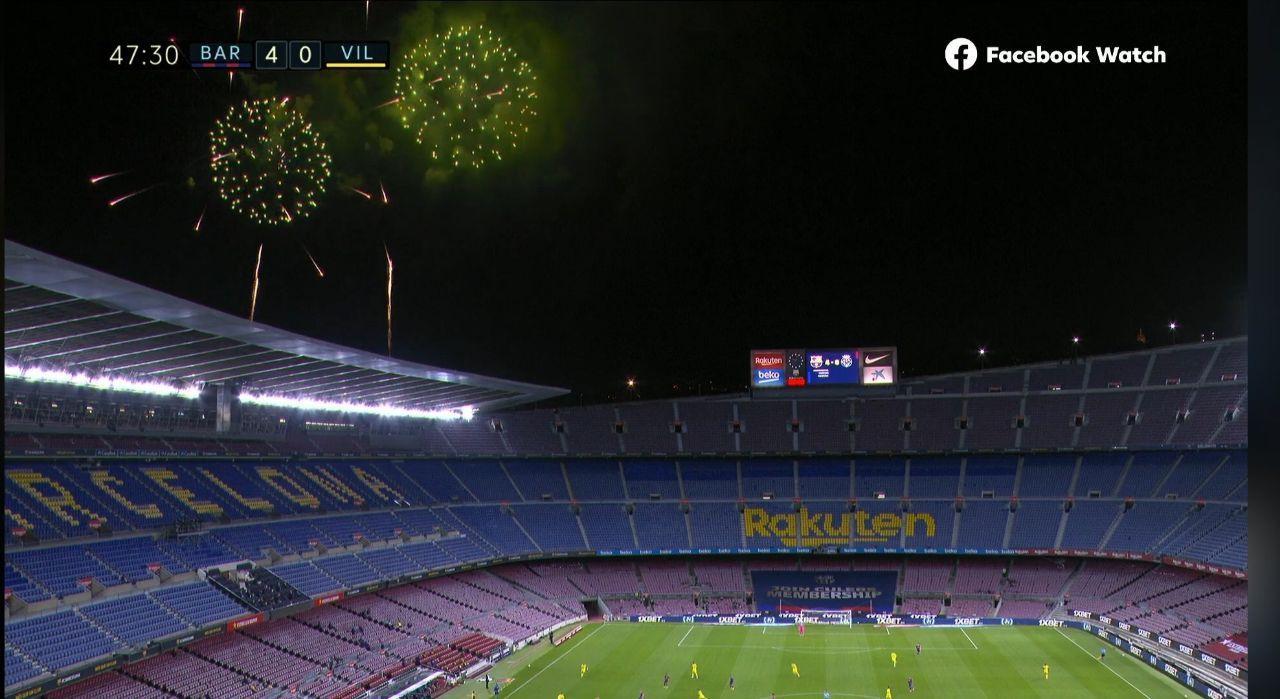 توفان بارسلونا در شب آتشبازی کاتالانها