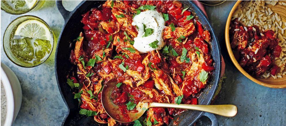 طرز تهیه خورشت مرغ مکزیکی