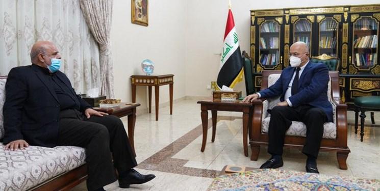 سفير ايران با رئيس جمهور عراق ديدار کرد