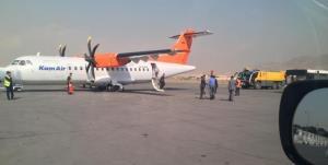 هواپیمای مسافربری کابل دچار حریق شد