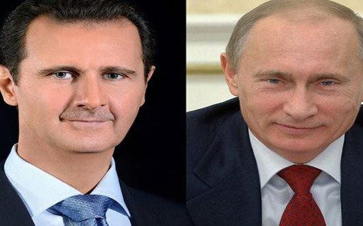 پوتین به اسد: کانون تروریسم را حذف کردیم