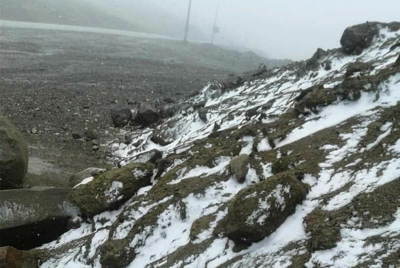 برف ارتفاعات خلخال را سفیدپوش کرد