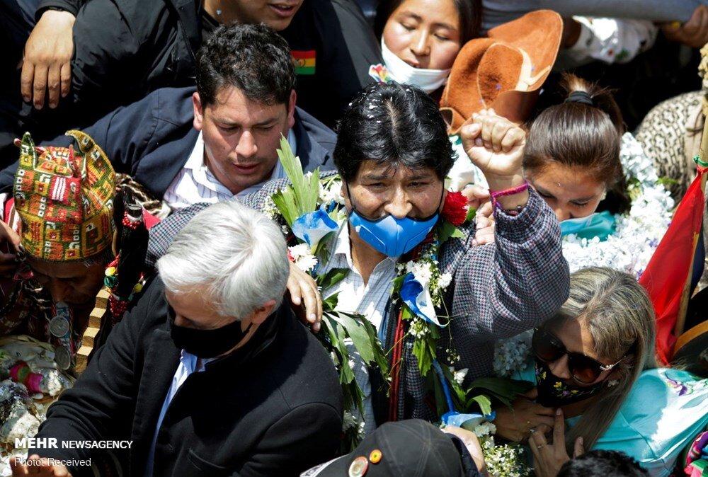 بازگشت مورالس به کشور بولیوی