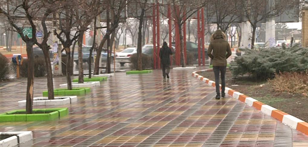 کاهش دمای هوا و بارش باران در اردبیل
