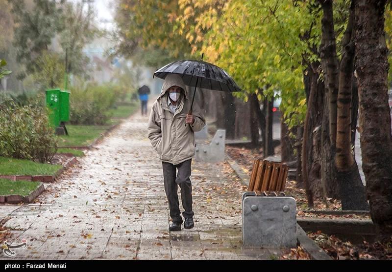 چهره پاییزی کرمانشاه بارانی