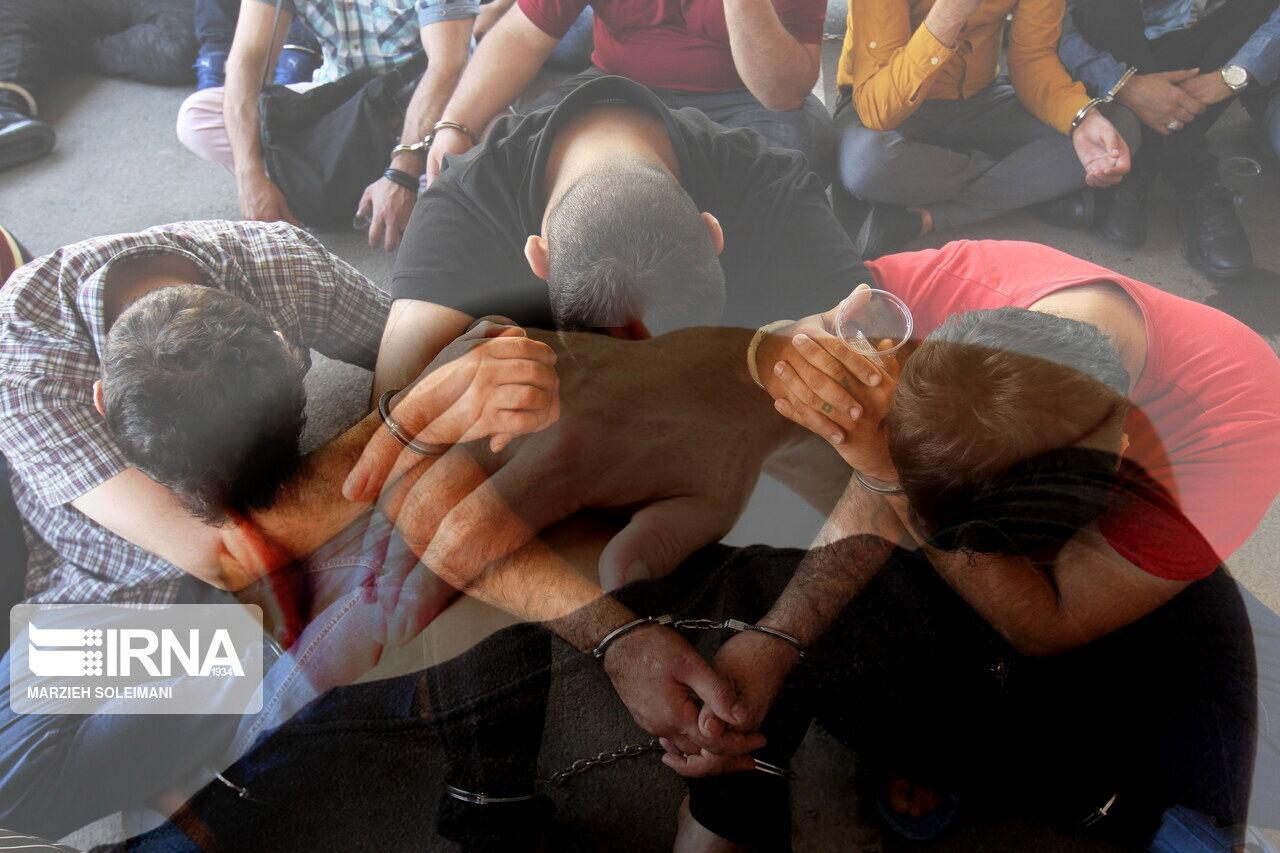 دستگیری ۸ نفر از اوباش منطقه گلسار ساوجبلاغ