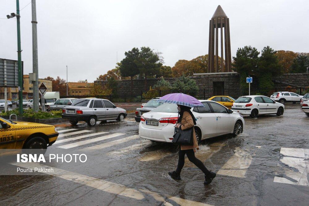 بارش رحمت الهی در همدان
