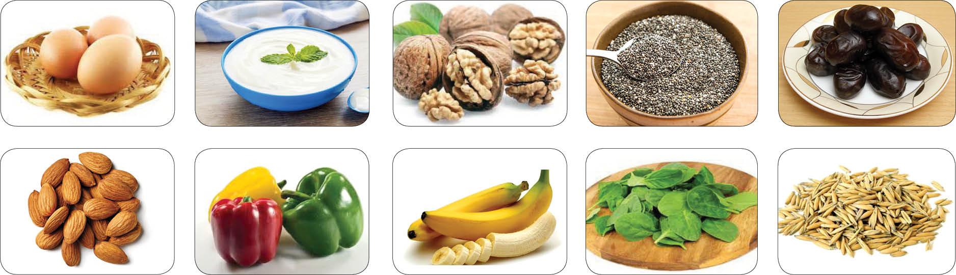 10 خوراکی مقابله کننده با خستگی