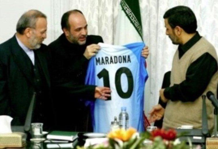 پیام تسلیت احمدینژاد برای درگذشت مارادونا