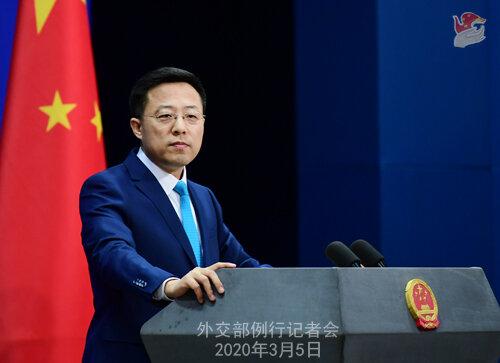 اعتراض چین به واشنگتن درباره تحریم های مرتبط با ایران علیه چهار نهاد چینی