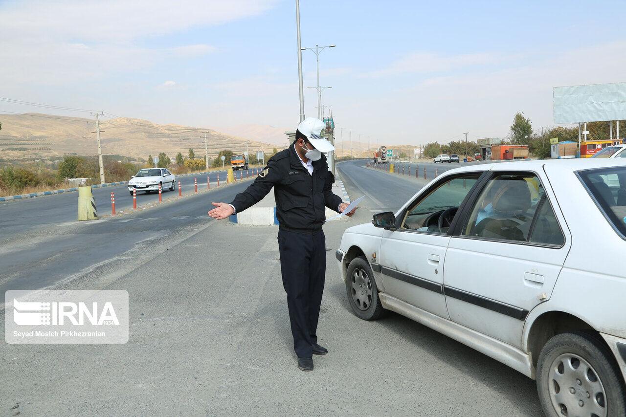 ۲۴۶ خودرو از مبادی ورودی استان قزوین برگشت داده شدند