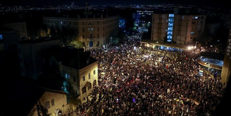 تجمع چند هزار نفری مقابل اقامتگاه نتانیاهو