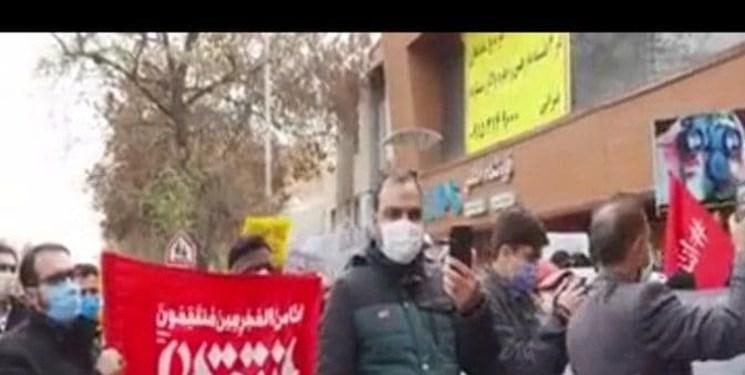 تجمع مشهدیها مقابل دفتر وزارت خارجه