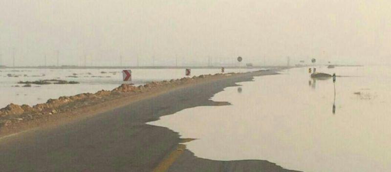 جاده ساحلی گناوه- بوشهر مسدود شد