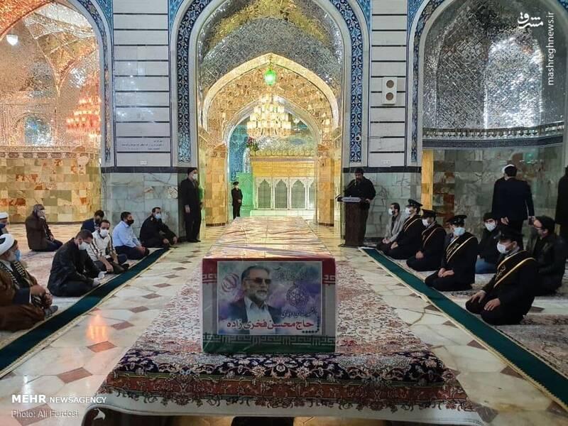 عکس/ تشییع پیکر شهید محسن فخریزاده در قم