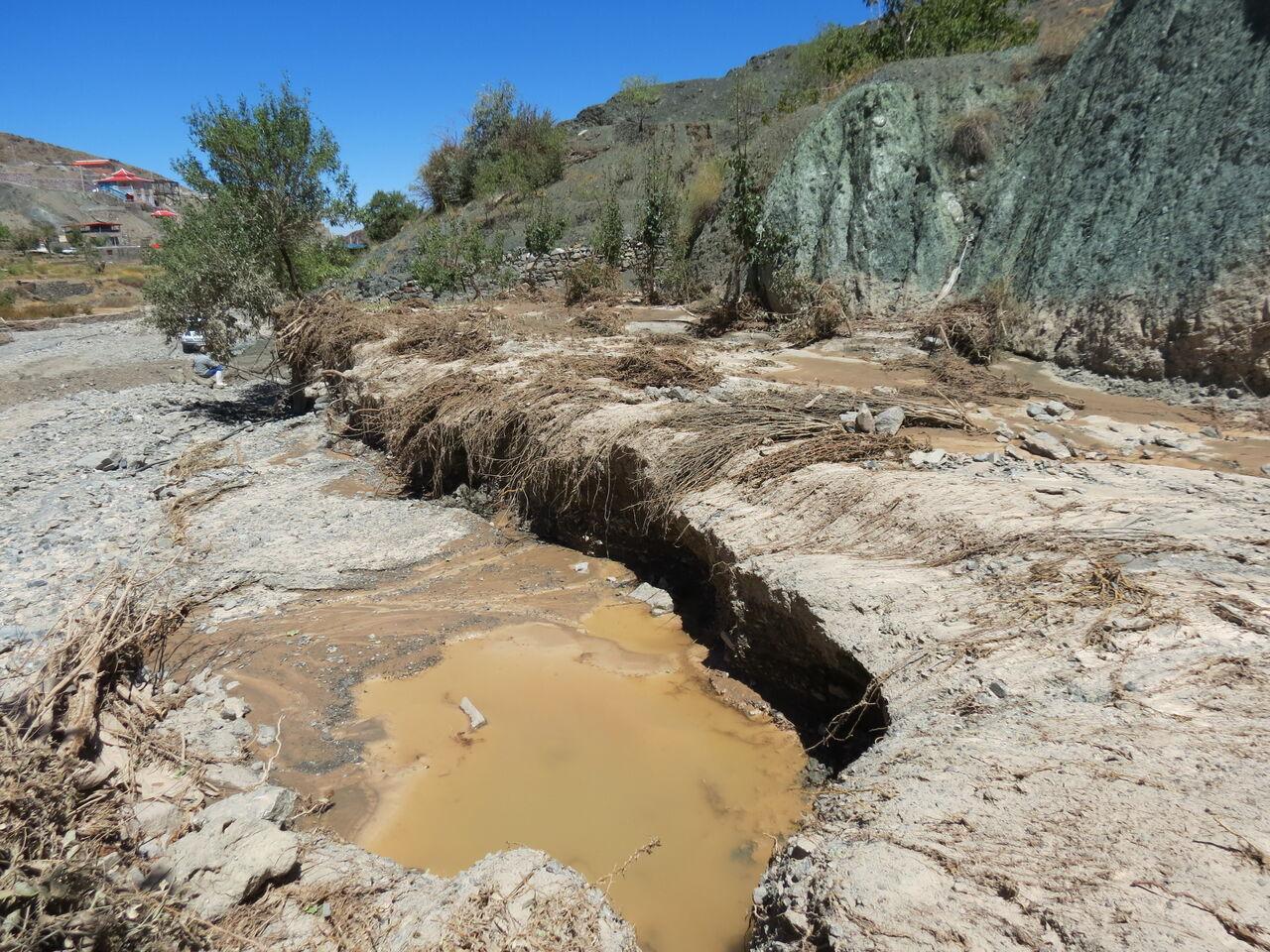 فعال شدن مسیلها و رودخانههای فصلی در حوضه مارون