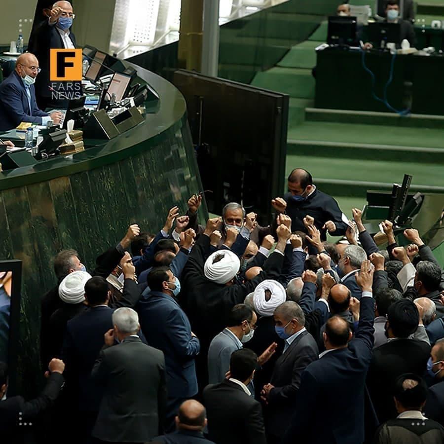 تصویری عجیب از صحن علنی امروز مجلس