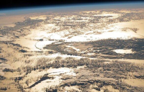 درخشش اقیانوس اطلس از منظر فضا