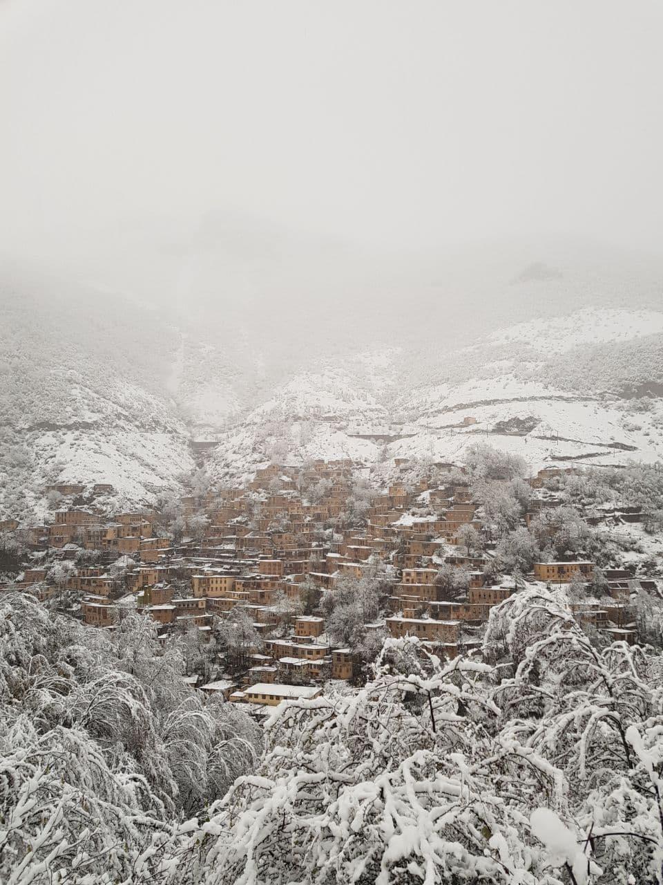 طبیعت زیبای برفی ماسوله