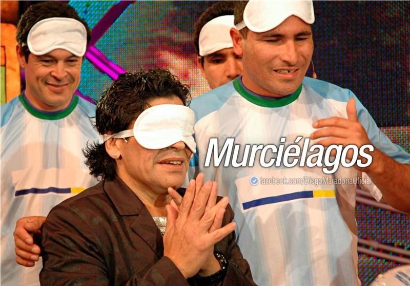خاطرهای جالب از دیدار مارادونا با فوتبالیستهای نابینا