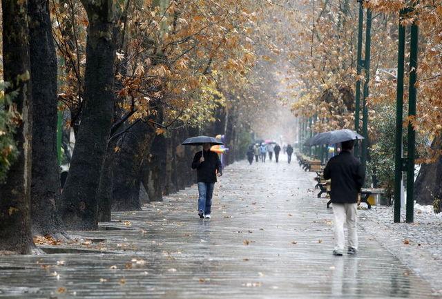 بارش شدید باران در ۱۱ استان کشور