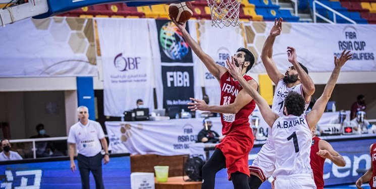 پیروزی بسکتبال سوریه مقابل ایران!