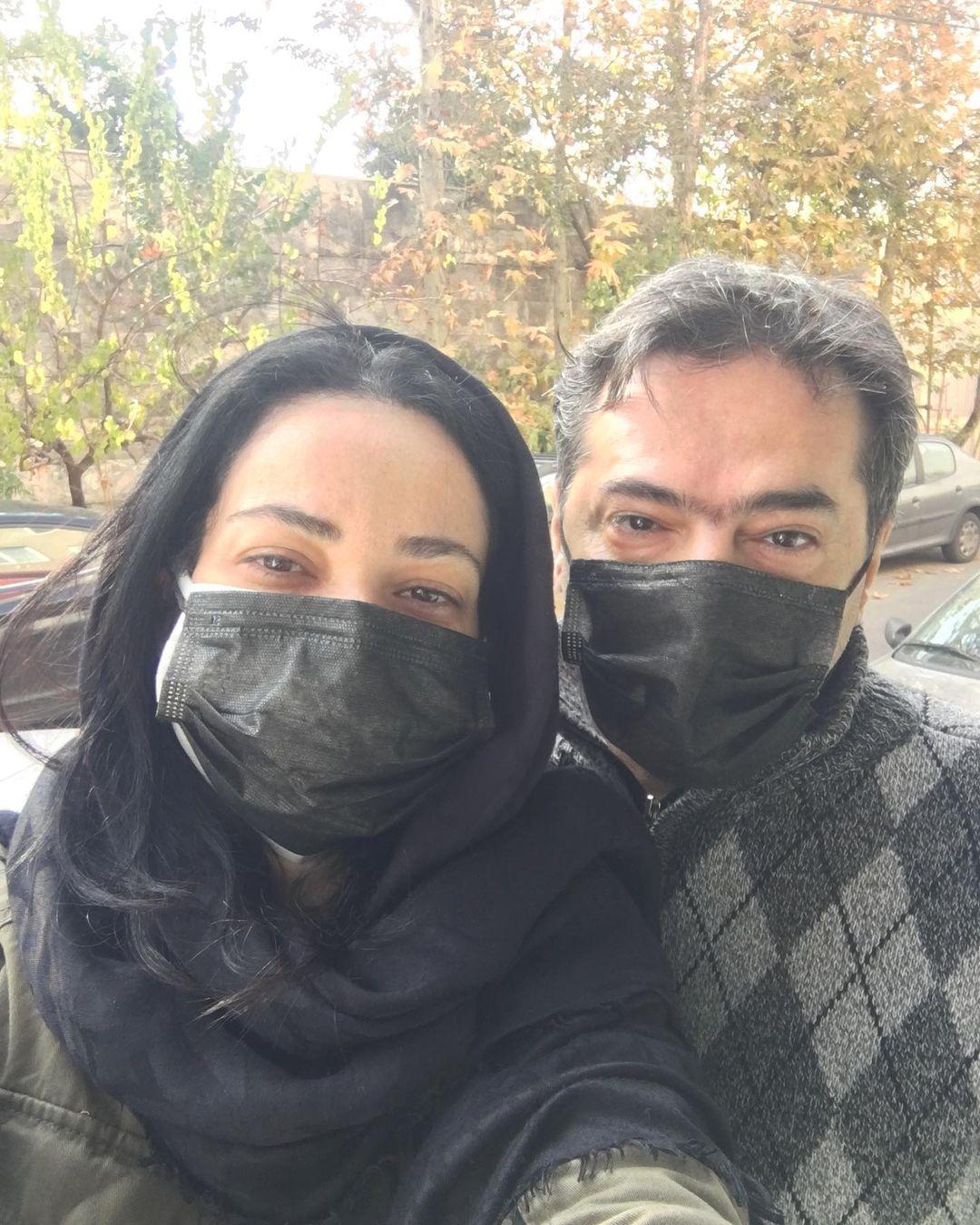 چهره ها/ سلفی فهیمهِ «پایتخت» با همسرش