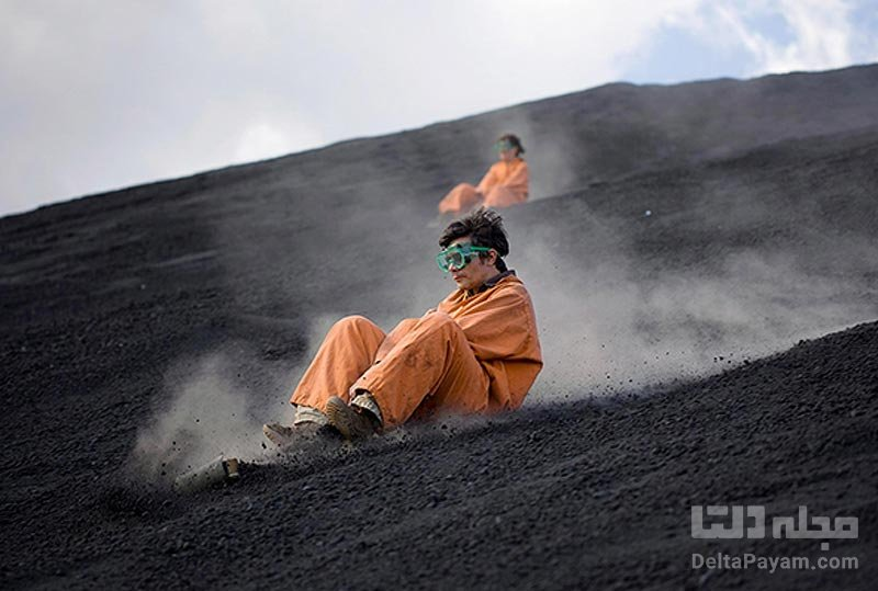 اسکی روی آتشفشان فعال!
