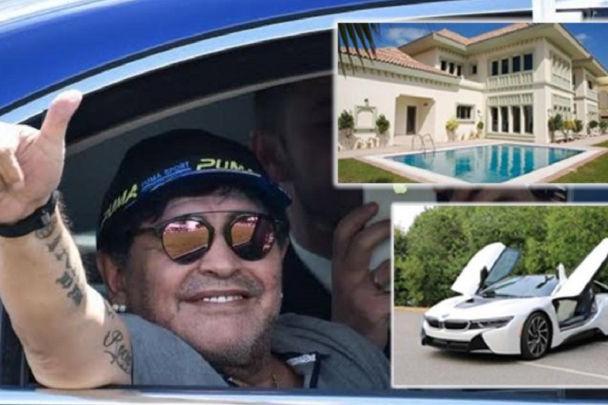 ارثیه گرانقیمت مارادونا ؛ از خودروی نظامی تا خانه دبی!