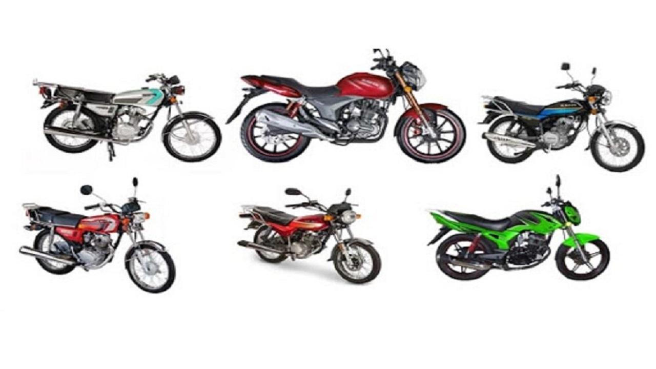 قیمت انواع موتورسیکلت در ۲۰ آذر