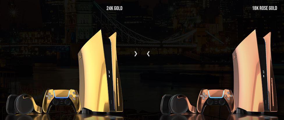 پلی استیشن ۵ طلایی یا پلاتینیومی برای خرید ارایه شد