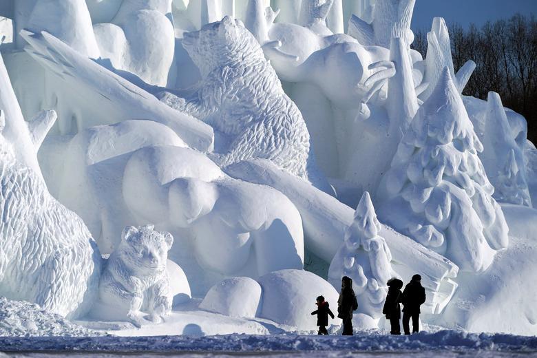 مجسمه های برفی زیبای جشنواره یخی چین