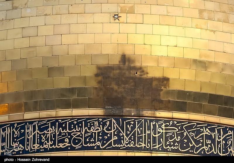 عکس/ آثار گلوله های تکفیری ها بر روی گنبد حرم حضرت زینب(س)