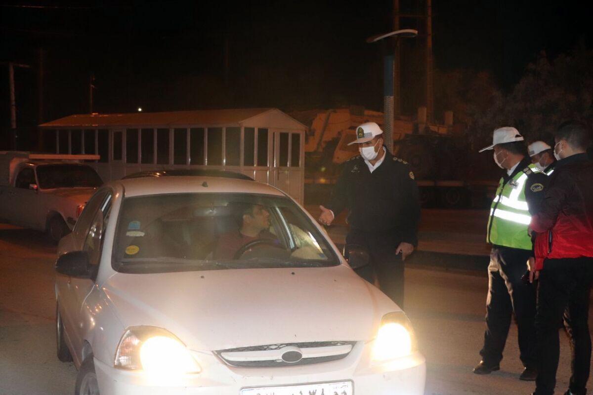 جریمه در انتظار خودروهایی که شب یلدا در خیابانهای یزد تردد کنند