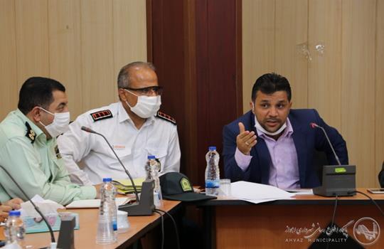 عکس/ برگزاری جلسه ستاد پیشگیری، هماهنگی و فرماندهی عملیات پاسخ به بحران اهواز