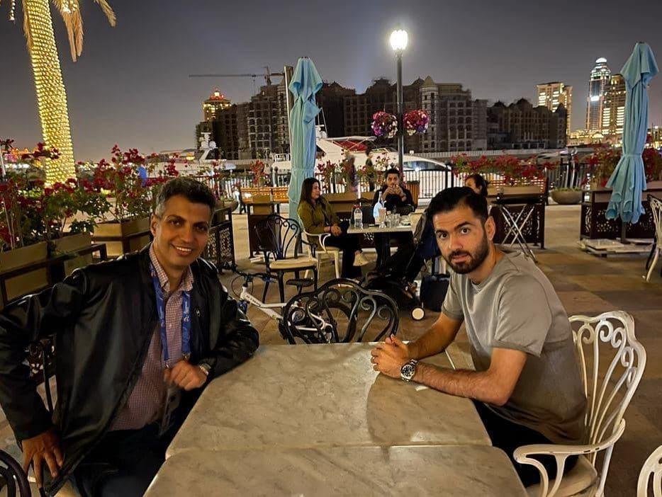 ملاقات عادل فردوسیپور با لژیونر استقلالی در دوحه