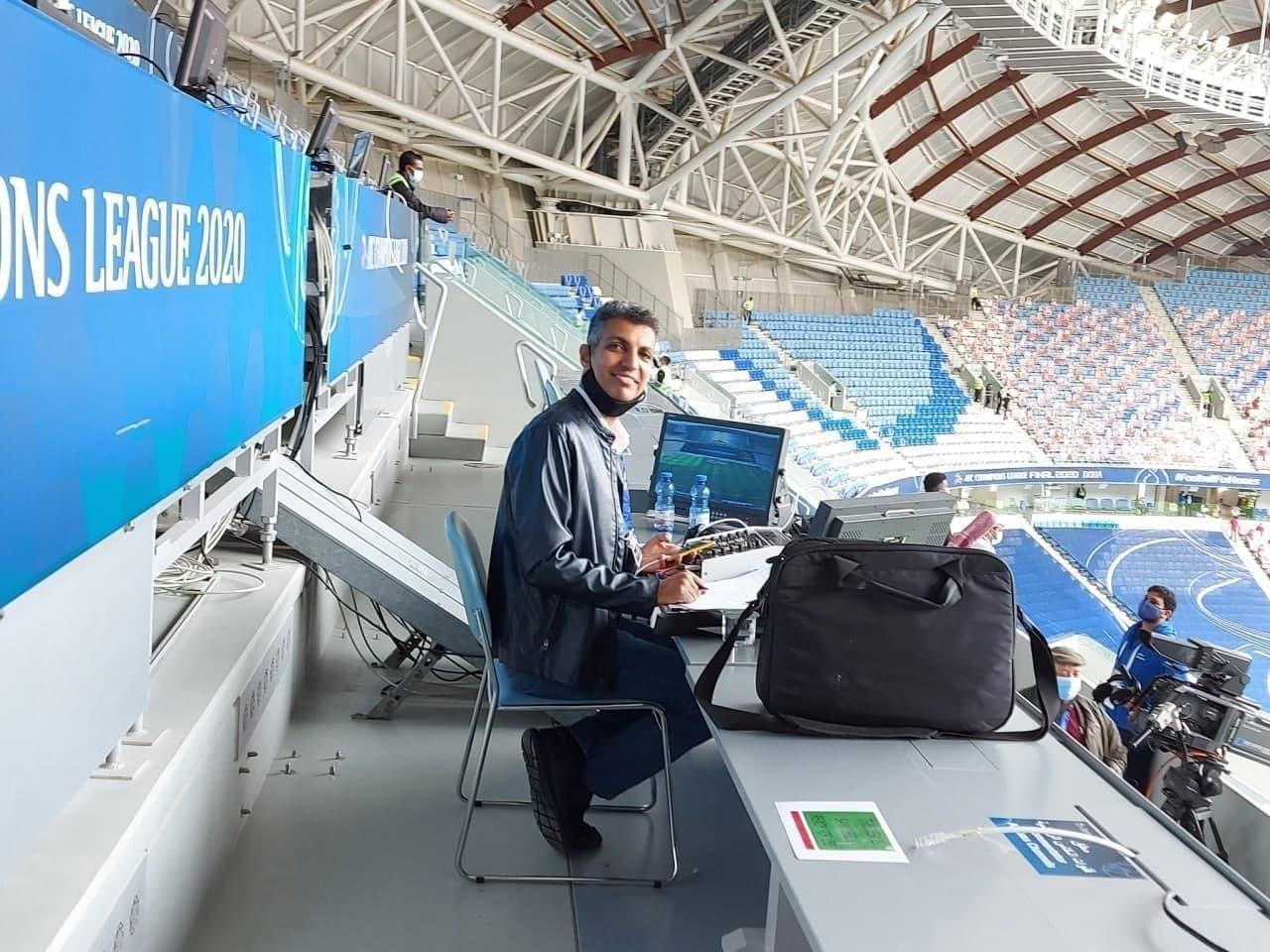 عادل فردوسیپور در جایگاه گزارشگری