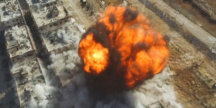 انفجار در انبار مهمات تروریستها در سوریه
